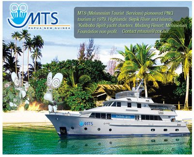 Melanesian Tourist Services Custom Facebook Fan Page Landing Welcome Page
