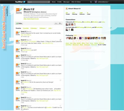Buzz12 Custom Twitter Background Skin