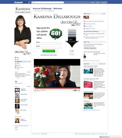 Kaarina Dillabough Custom Facebook iFrames application with Like-Gate Fangate Reveal