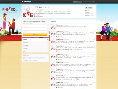 @pickedcom Custom Twitter Background Skin designed by CustomTwit.com
