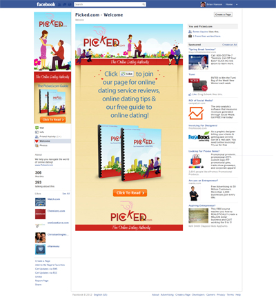 Picked.com Custom Facebook iFrame Application Like-Gate Reveal Welcome Landing Tab designed by CustomTwit.com