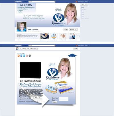Eva Gregory Custom Facebook Business Page Timeline Cover Image, App Views & Welcome Landing Page designed by CustomTwit.com