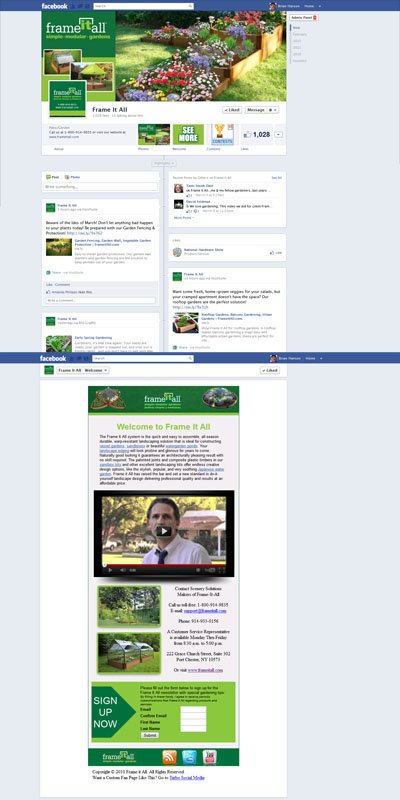 Frame It All Custom Facebook Timeline Cover Image, Welcome App View & Profile Picture for Business Pages