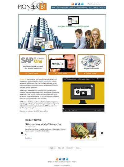 PioneerB1.com Custom Wordpress Site and Blog designed by CustomTwit.com