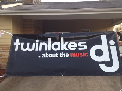 twinlakes dj custom Logo & Full Size Banner designed by CustomTwit.com
