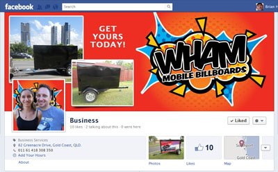 WHAM Mobile Billboards custom Facebook Timeline Cover Image & Facebook Avatar designed by CustomTwit.com