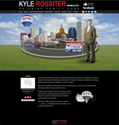 Kyle Rossiter Remax Elite Custom Wordpress Site and Blog designed by CustomTwit.com