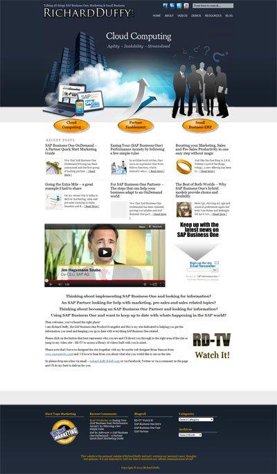 RichardDuffy.com Custom Wordpress Site and Blog designed by CustomTwit.com
