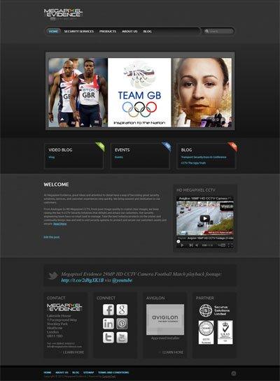 Megapixel Evidence Custom Wordpress Site and Blog using YooThemes Quantum