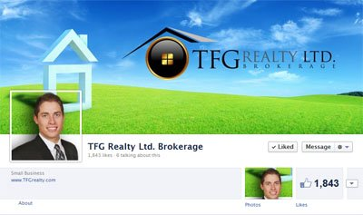 TFG Realty Ltd. Custom Facebook Timeline Cover Image designed by CustomTwit.com
