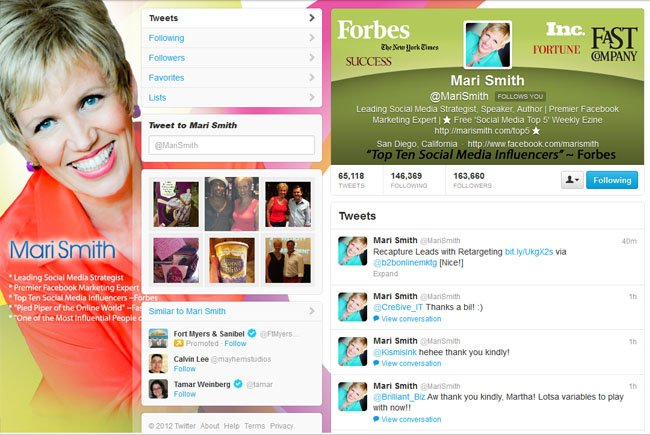 @MariSmith Custom Twitter Background Skin and New Twitter Header designed by CustomTwit.com