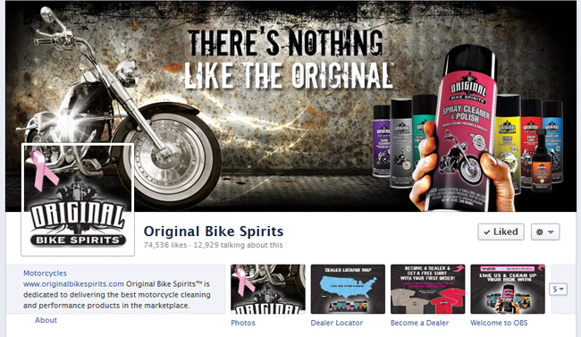 Original Bike Spirits Custom Facebook Fan Page Timeline Cover Image and Avatar designed by www.CustomTwit.com