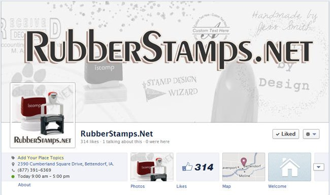 RubberStamps.net Custom Facebook Timeline Cover Image & Avatar designed by CustomTwit.com
