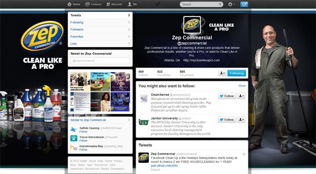 @zepcommercial Custom Twitter Background Skin & New Twitter Header designed by www.CustomTwit.com