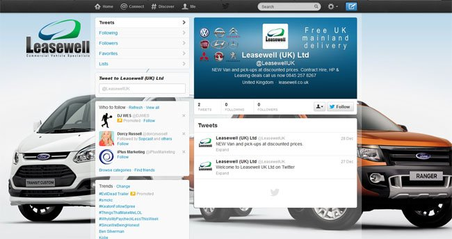 @LeasewellUK Custom Twitter Background Skin & Header designed by www.CustomTwit.com