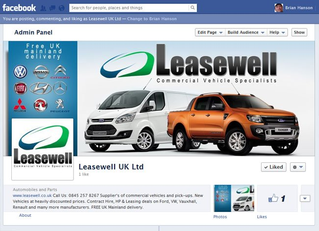 Leasewell UK Ltd Custom Facebook Timeline Cover Image & Avatar designed by www.CustomTwit.com