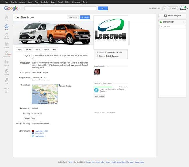 Leasewell UK Ltd Google Plus Profile designed by www.CustomTwit.com