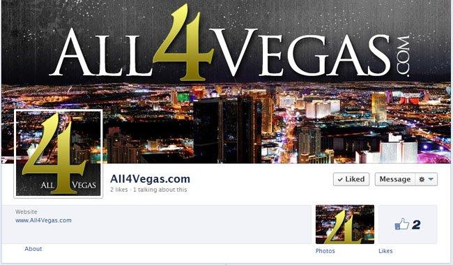 All4Vegas.com Custom Facebook Timeline Cover Image and Avatar