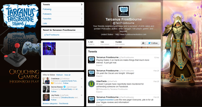 @TarcFrostbourne Custom Twitter Background Skin and Seamless Twitter Header