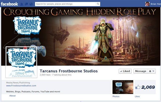 Tarcanus Frostborne Studio Facebook Timeline Cover and Avatar