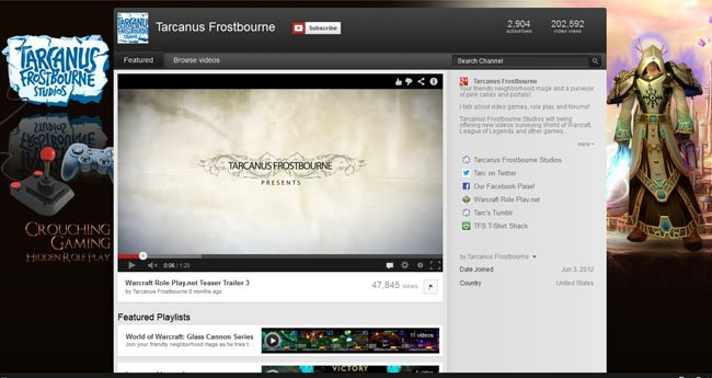 Tarcanus Frostborne Studios Custom YouTube Background Skin