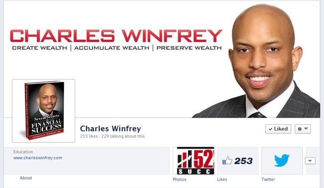 Charles Winfrey Custom Facebook Timeline Cover Image and Avatar