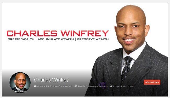 Charles Winfrey custom Google Plus Profile Package including New Profile Image & Avatar