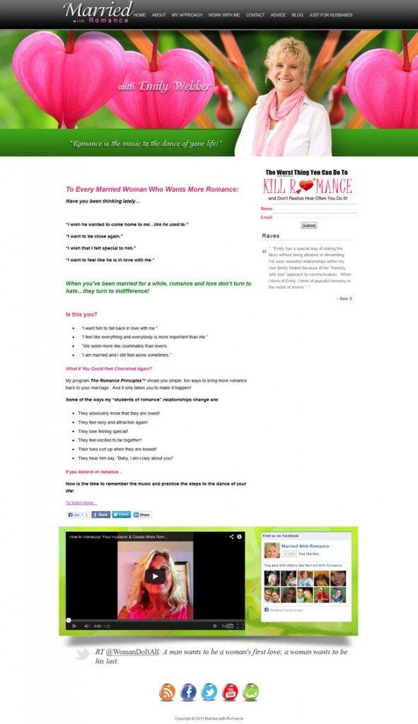 MarriedwithRomance.com Custom Wordpress Site & Blog designed by www.CustomTwit.com