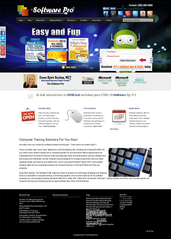 The Software Pro with Dawn Bjork Buzbee Custom Wordpress Business Theme & Blog