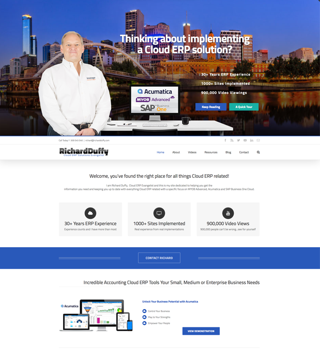 Richard Duffy Cloud ERP Evangelist Business WordPress Development