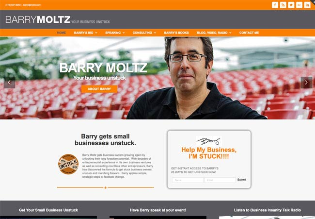 Barry Moltz Responsive WordPress Design and Theme