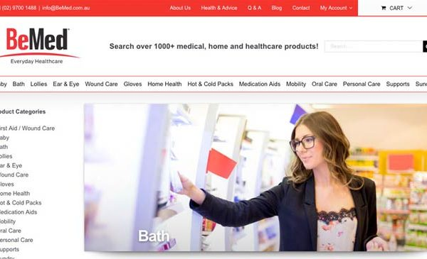 BeMed Everyday Healthcare WordPress Design with eCommerce platform.