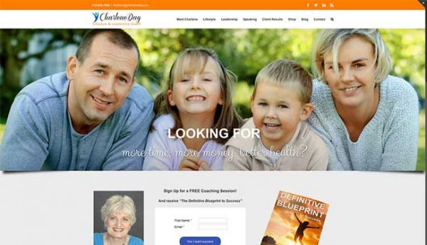 Charlene Day Lifestyle & Leadership Coach Business WordPress Design